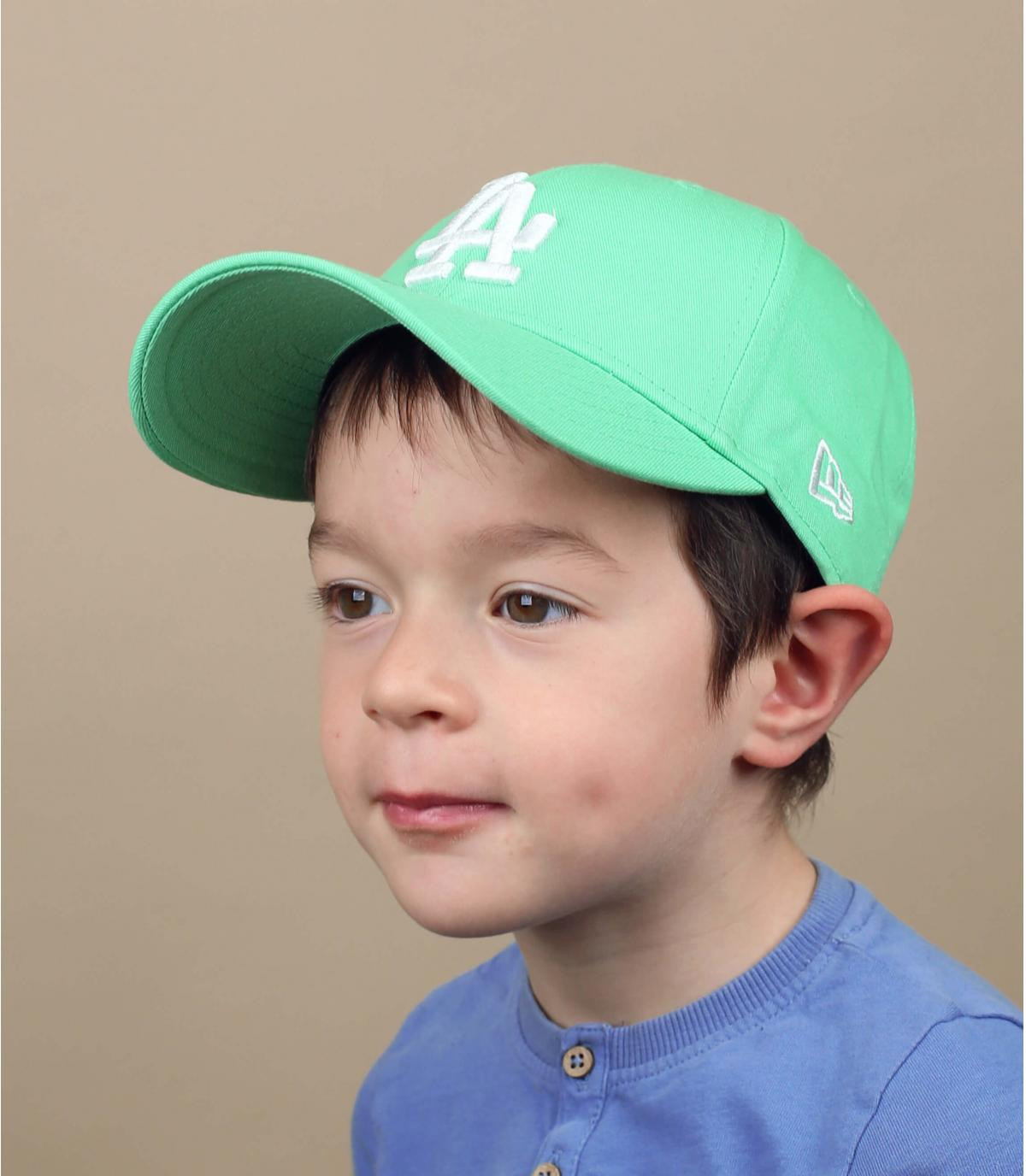 Kinder Cap LA blau grün