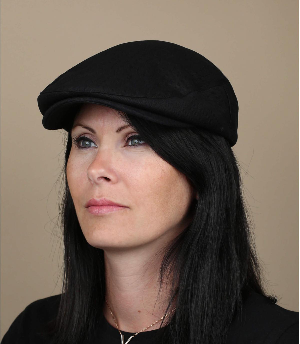 Damen Barett in Schwarz