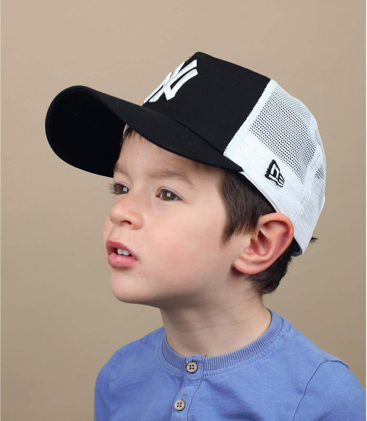 Kinder Trucker Cap NY schwarz