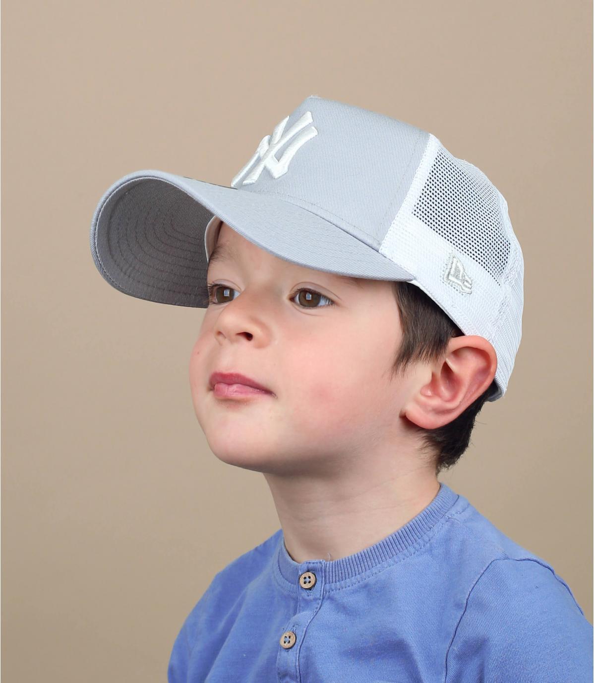Kinder Trucker Cap NY grau