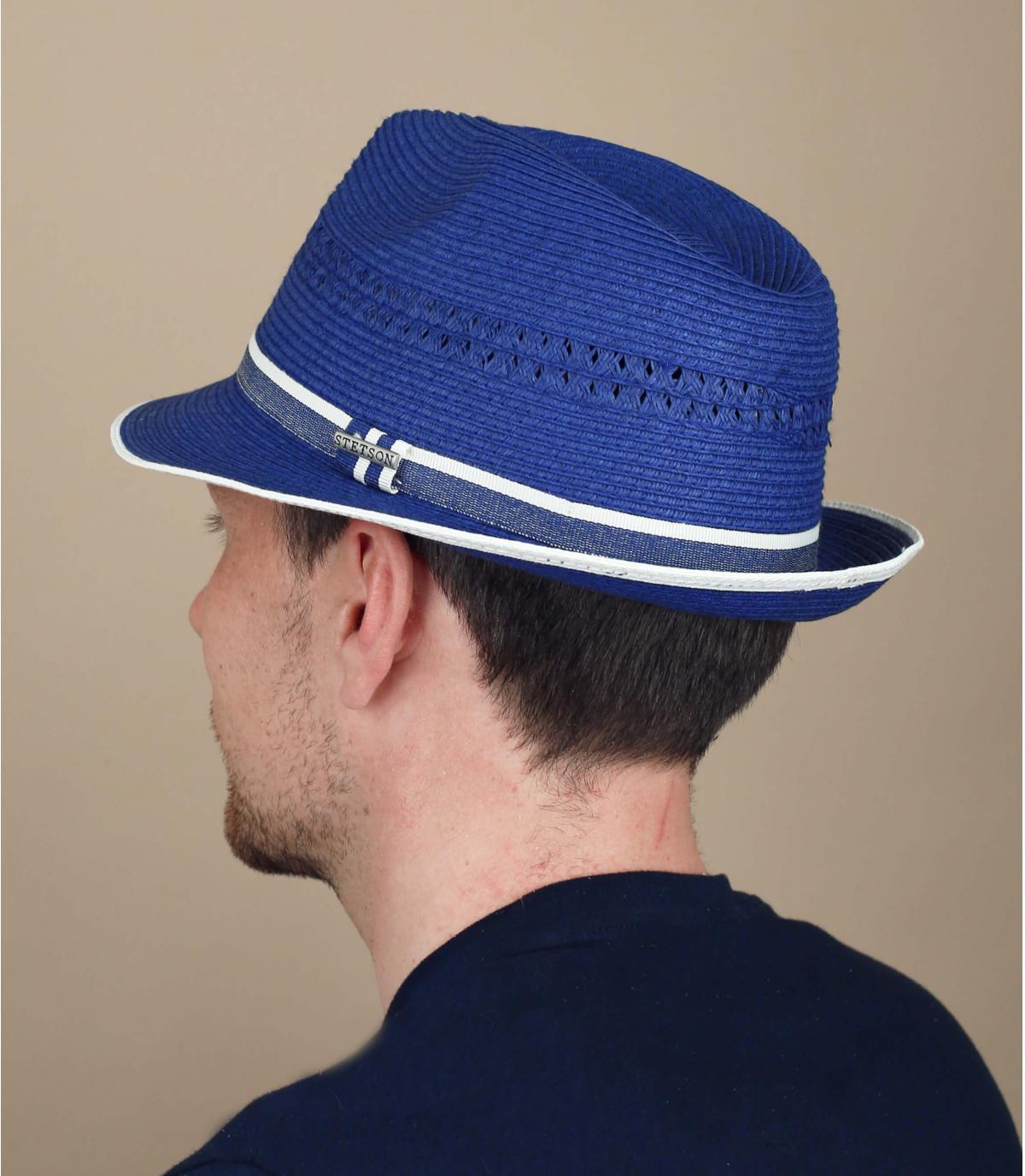 Trilby Strohhut blau Stetson