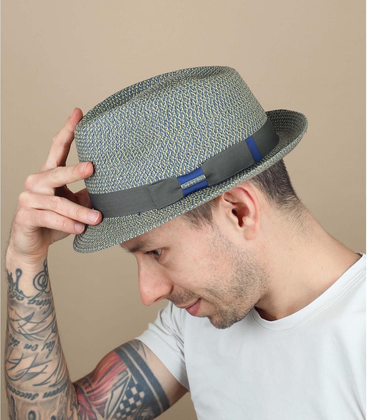 Hut Stetson blau grau