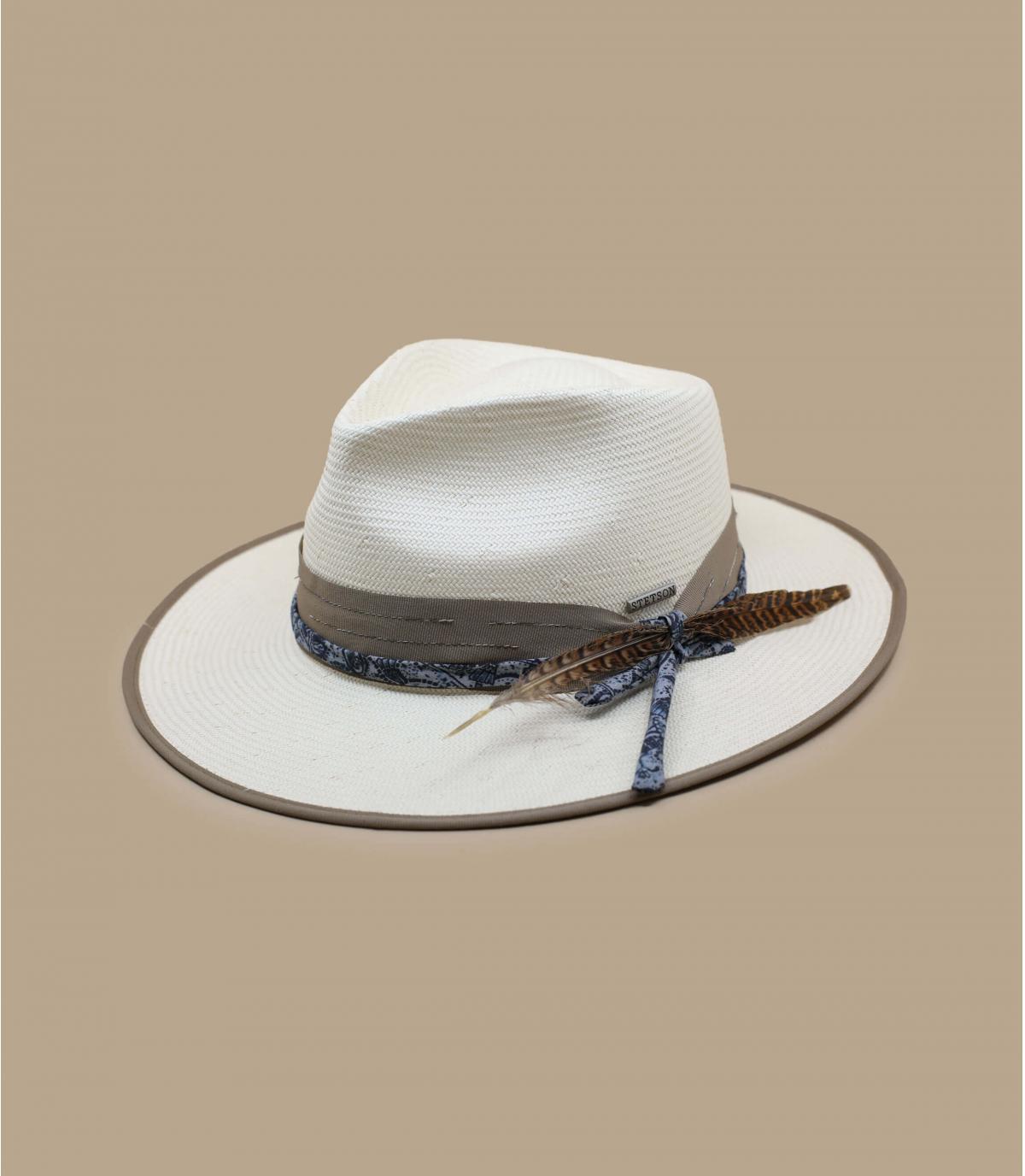 Strohhut Stetson weiß