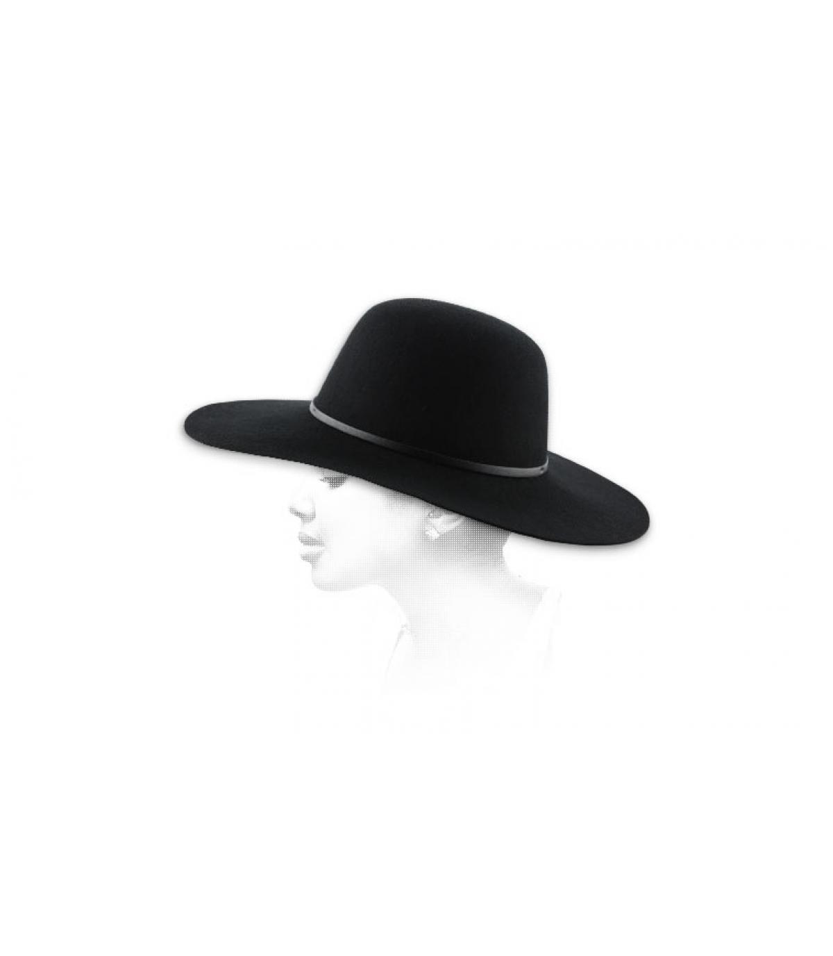 Schwarzer Damen Hut