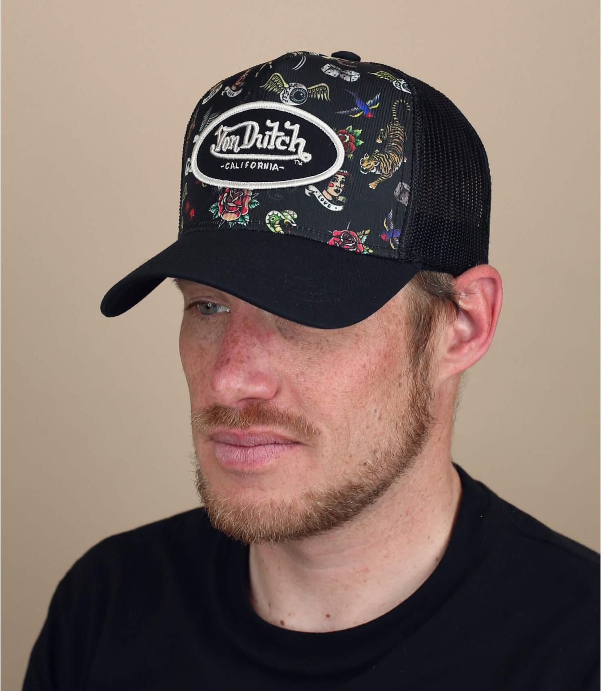 Trucker Cap Von Dutch Tatoo