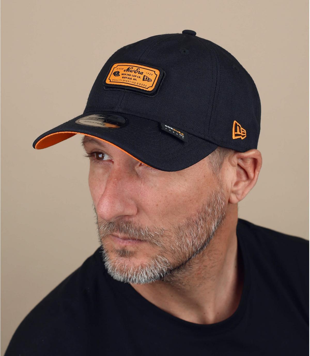 New Era Cap schwarz orange