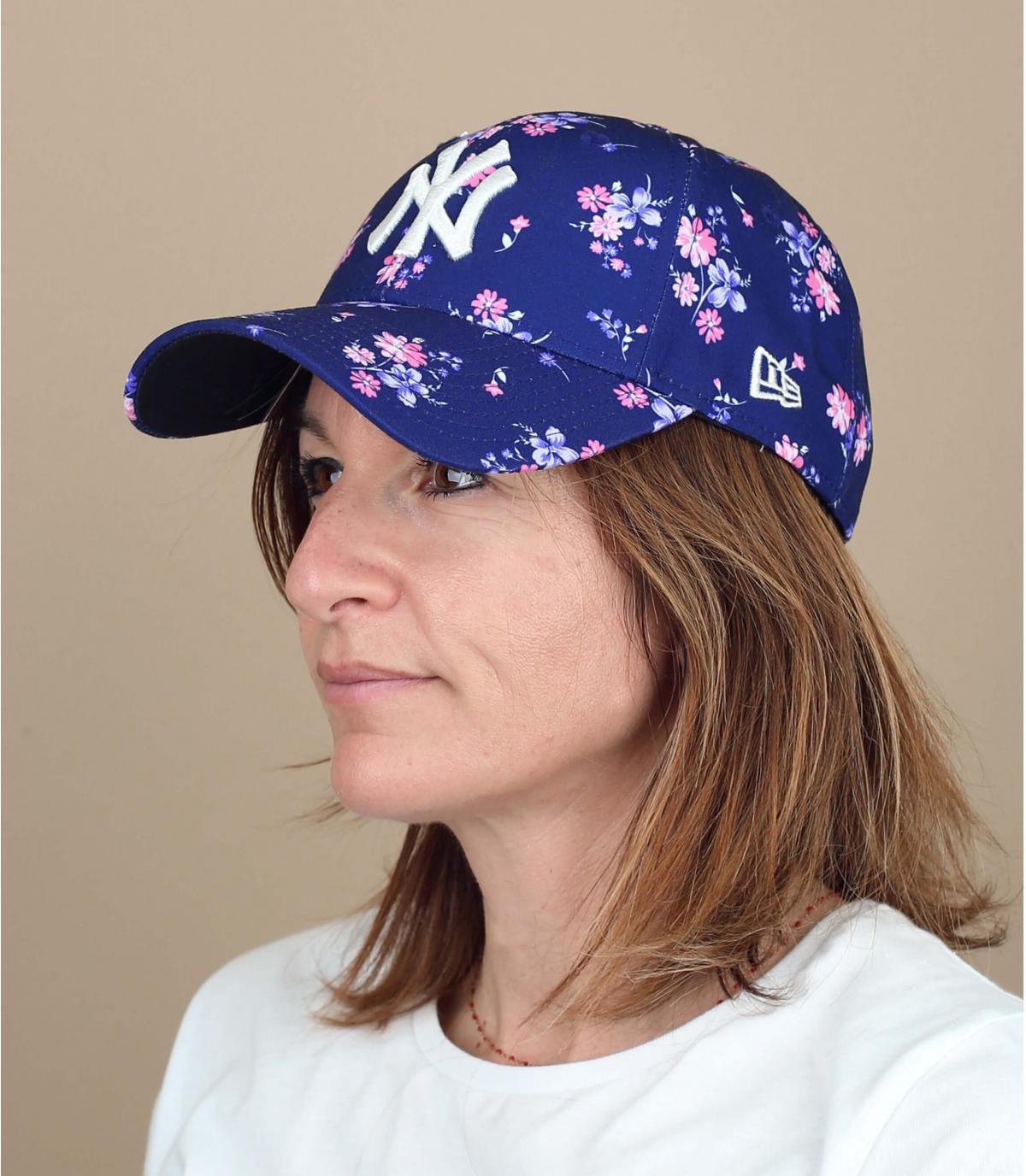 Damen Cap NY Blumen