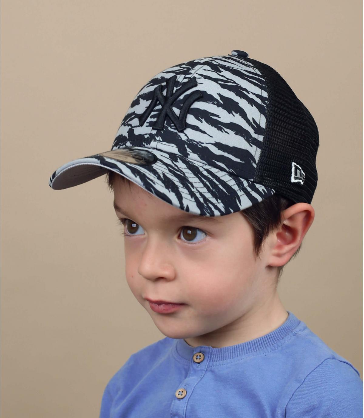 Kinder Trucker Cap NY Streifen