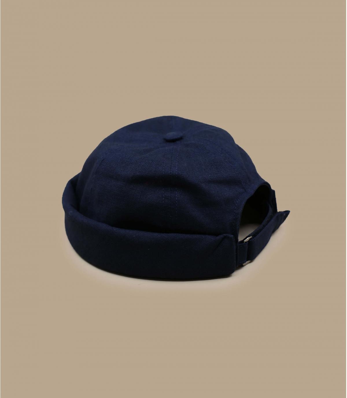 Docker Mütze Leinen marineblau