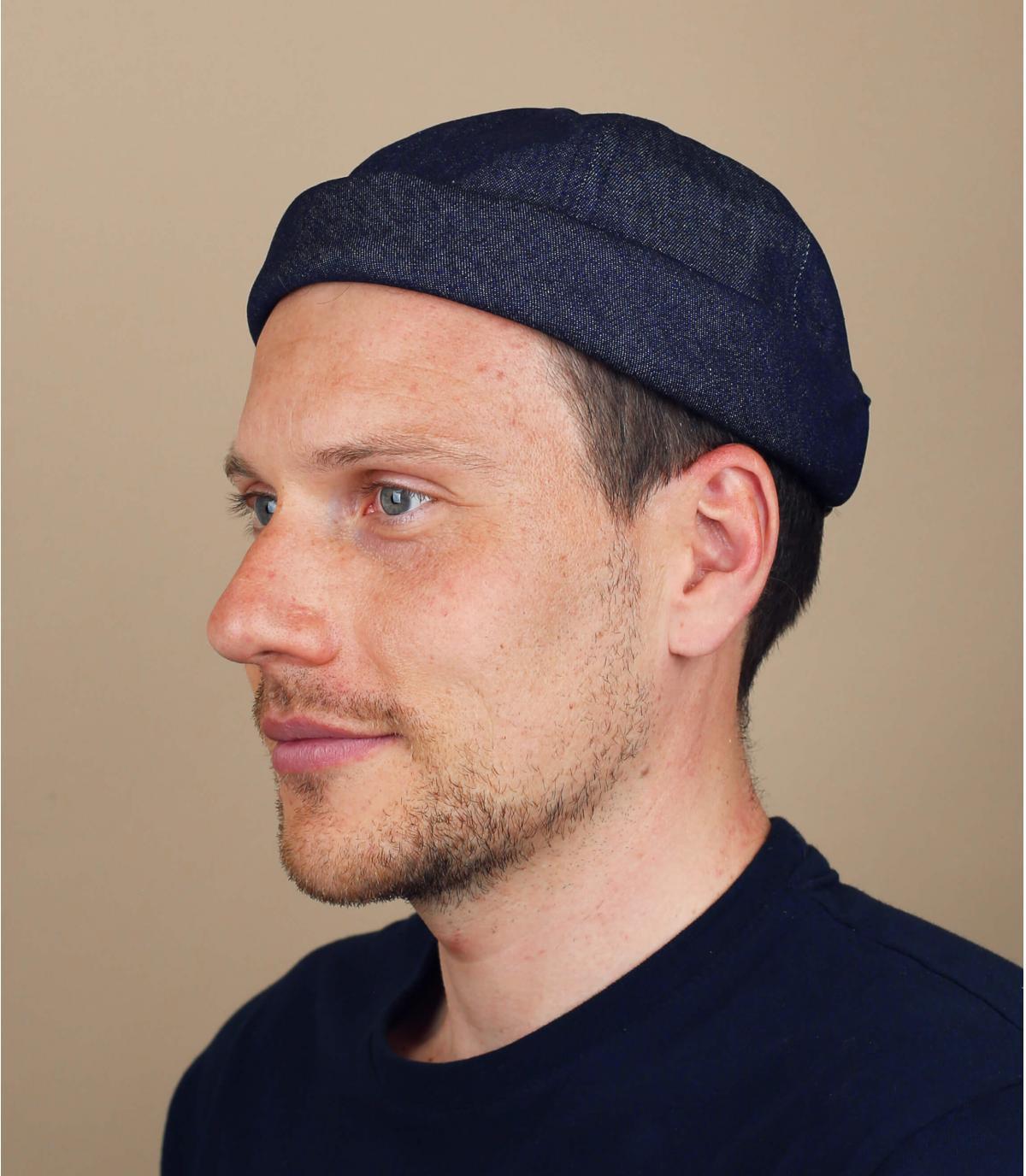 Docker Mütze Baumwolle blau
