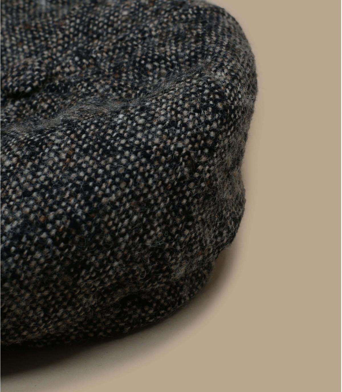 Details Brooklyn Wolle braun mit Leder - Abbildung 2