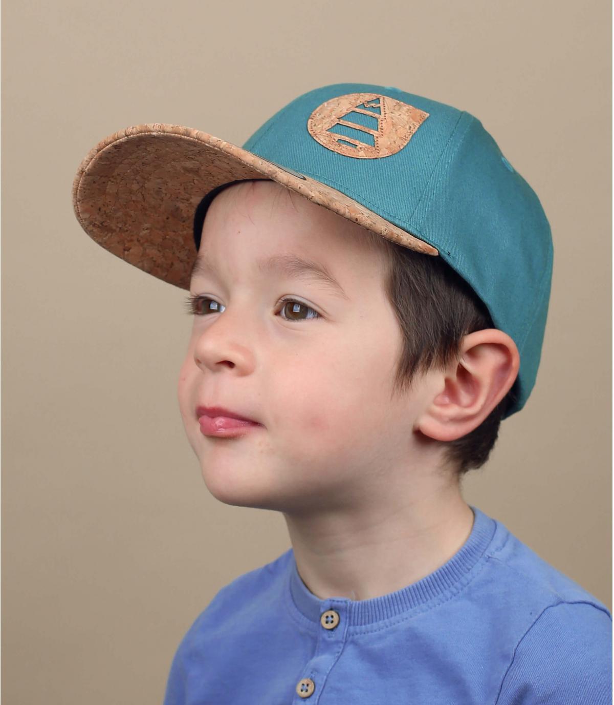 Kinder Cap Picture blau