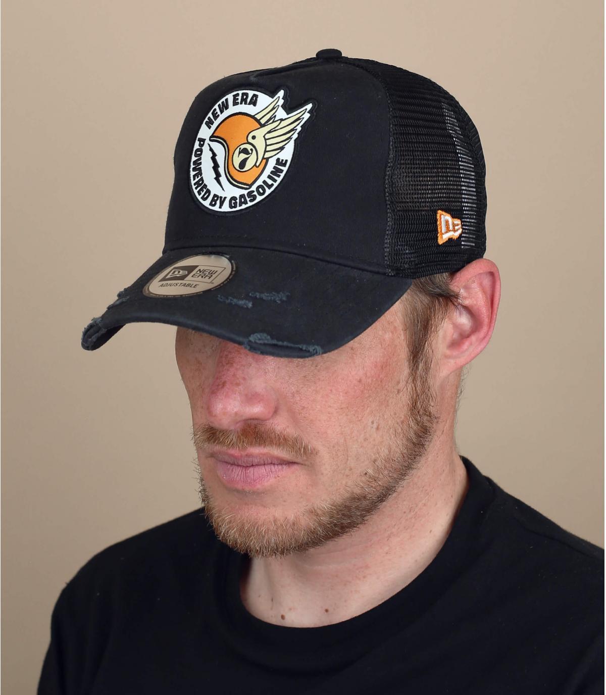Trucker Cap Patch Helm schwarz