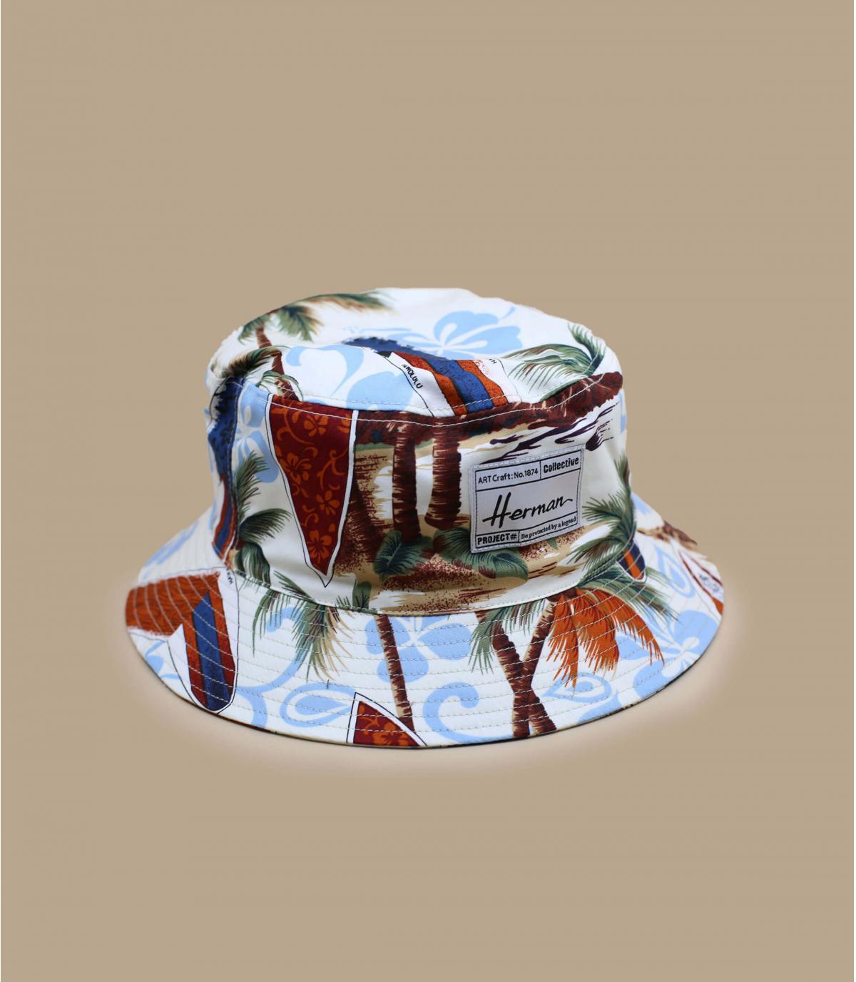 Fischerhut Baumwolle tropischer Print
