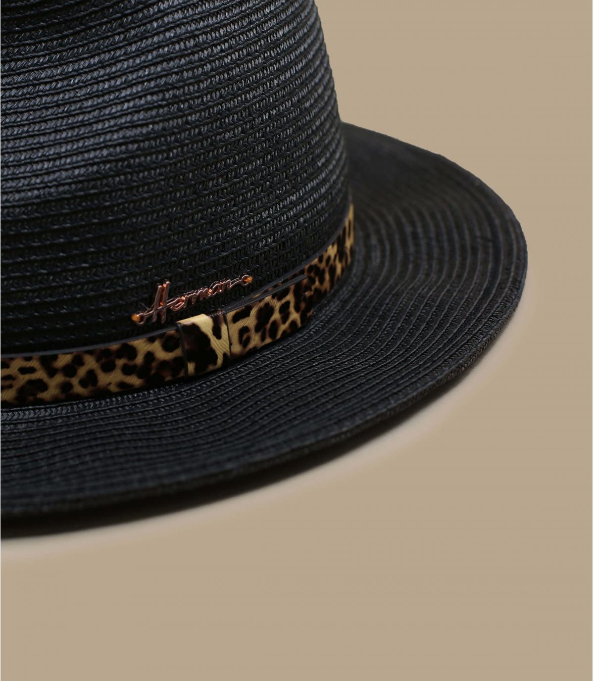 Strohhut schwarz Panther
