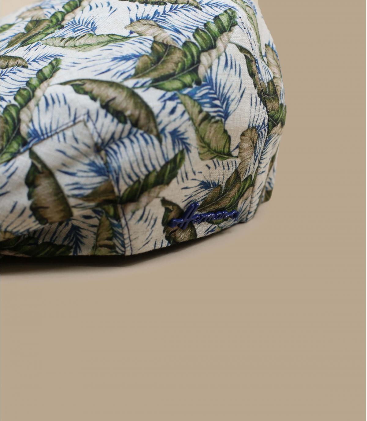 Flatcap bedruckt Leinen