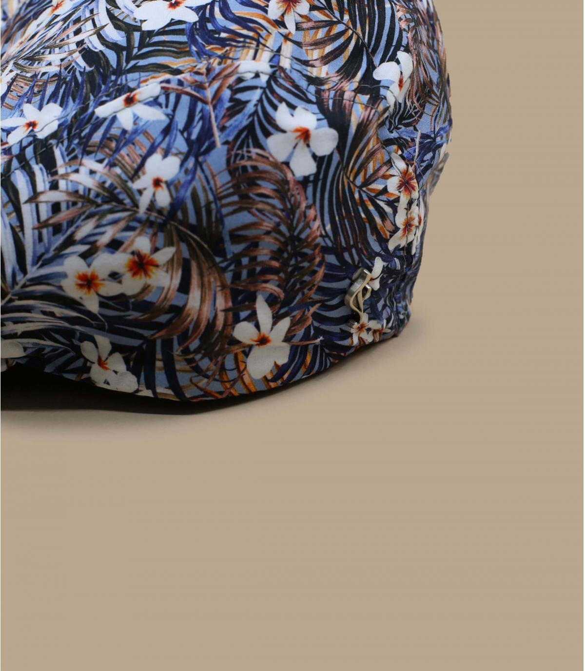 Flatcap Blumen blau