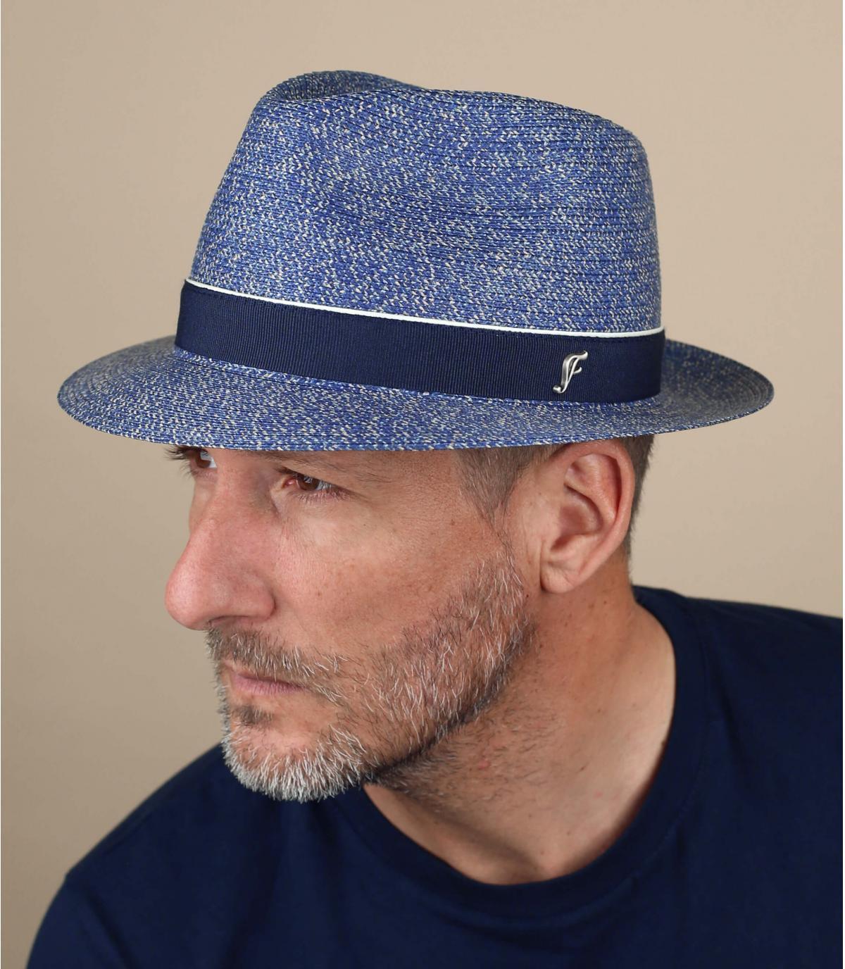 Strohhut blau