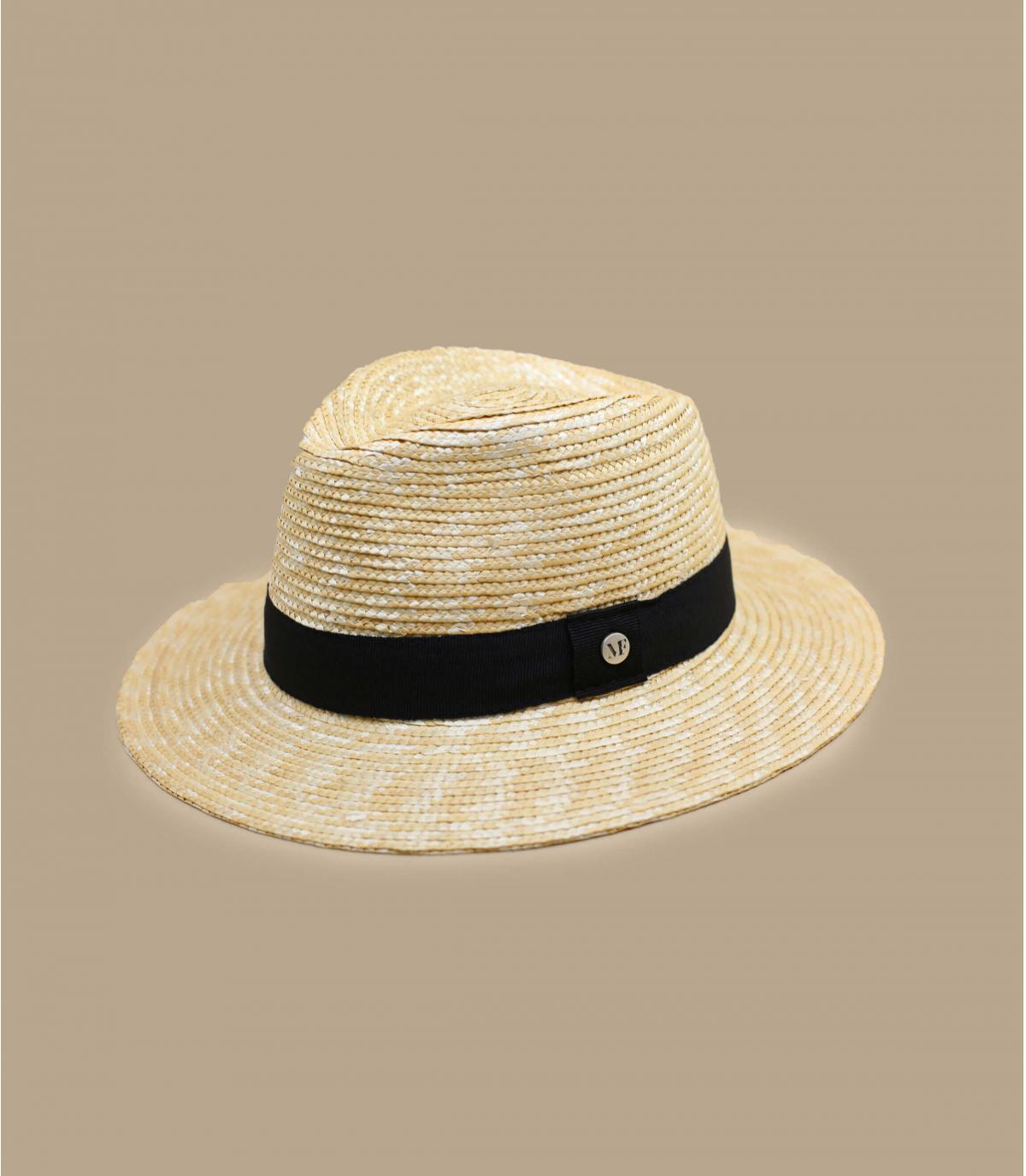 Strohhut Hutband schwarz