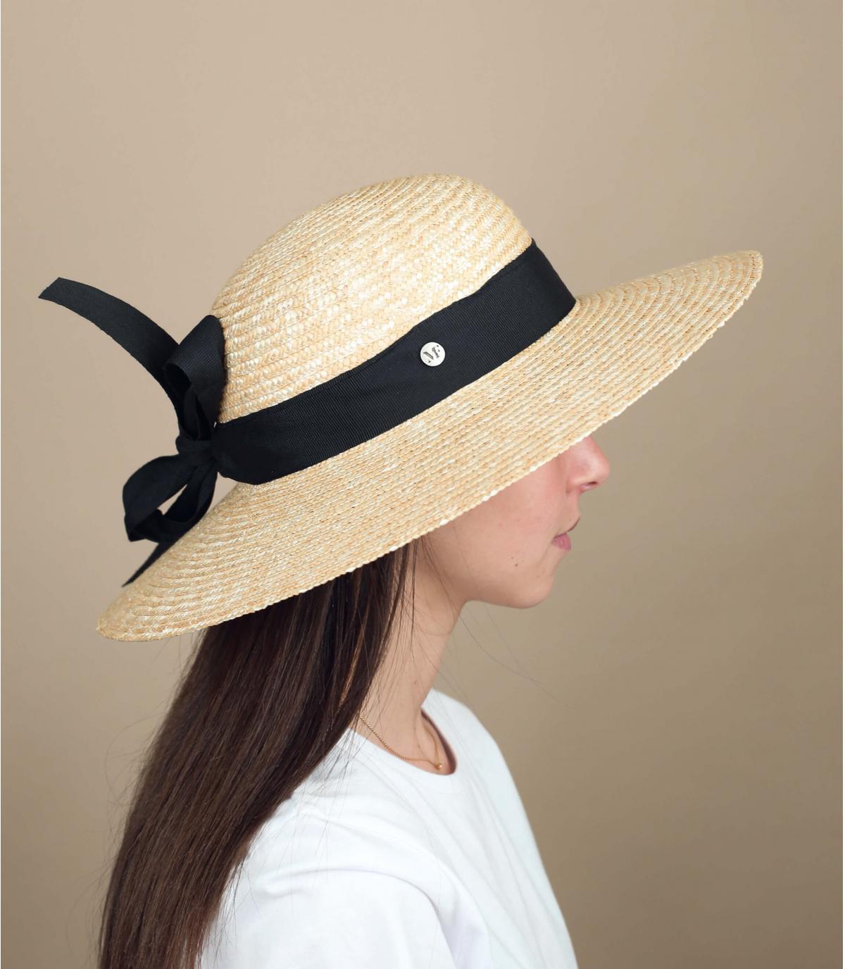 Damen Strohhut schwarz