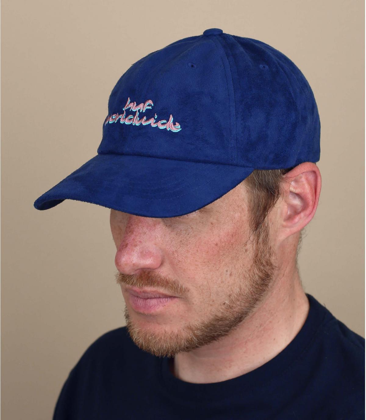 Cap Suede blau Huf