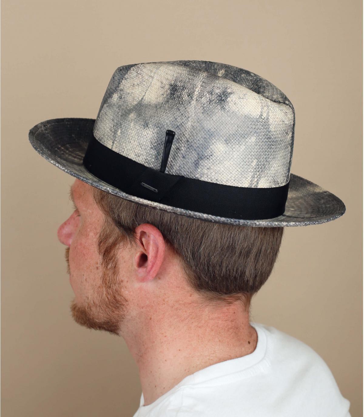 Panama Hut schwarz weiß Bailey