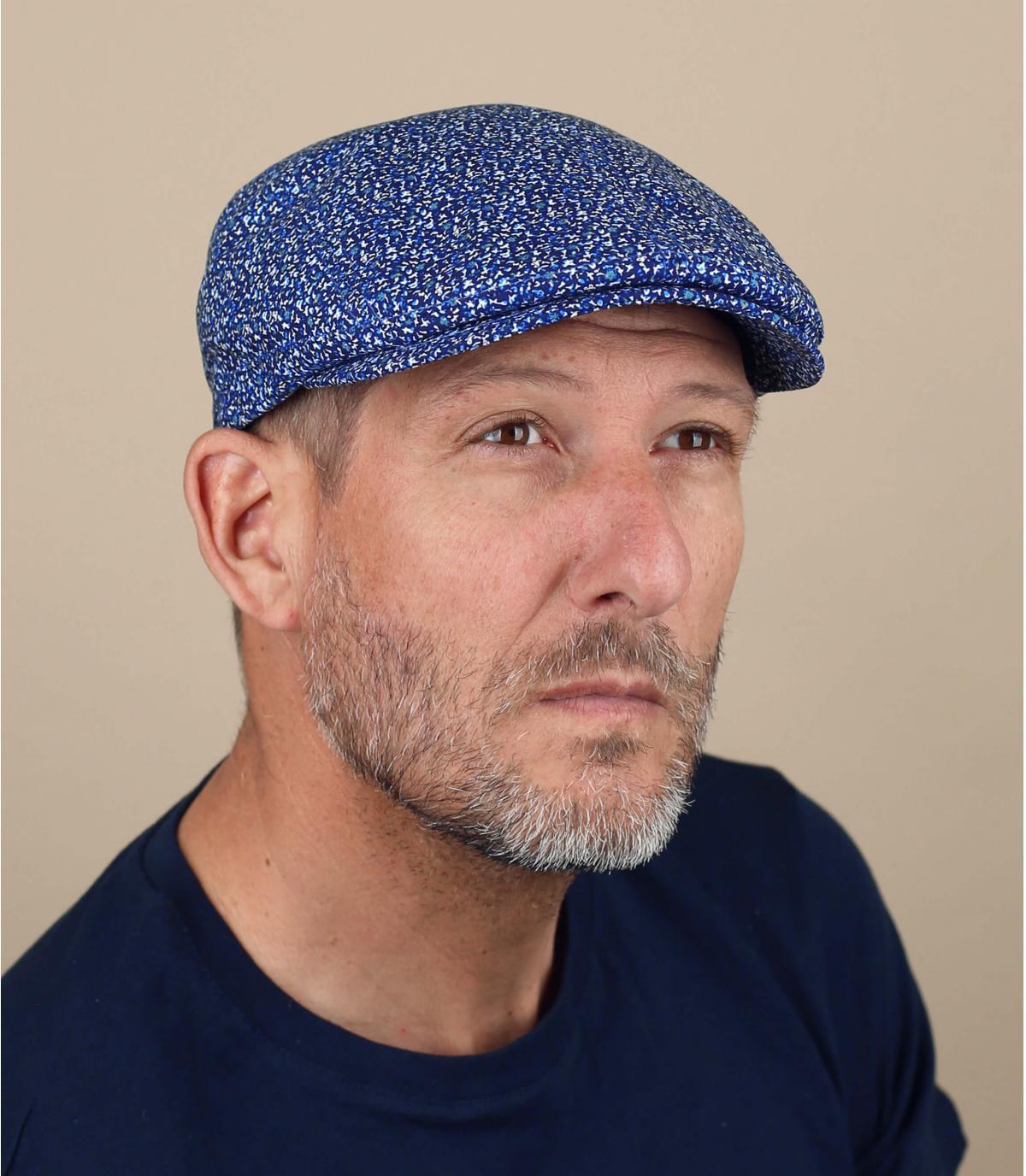 Flatcap blau meliert