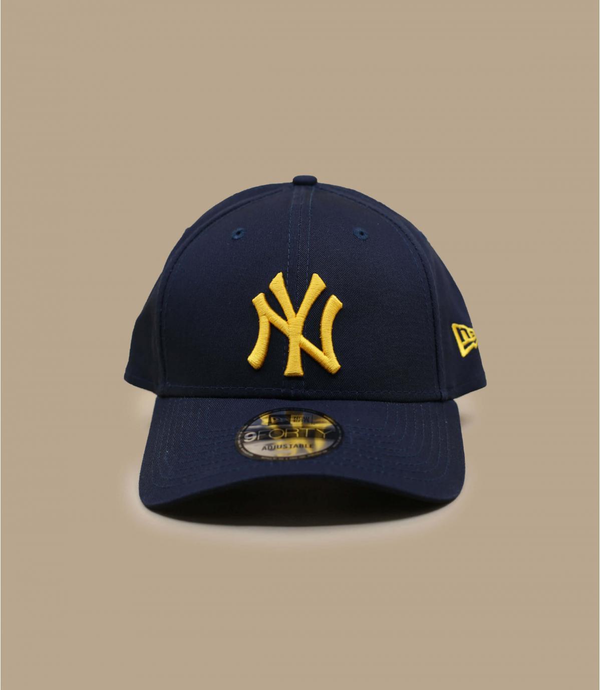 Cap NY blau gold