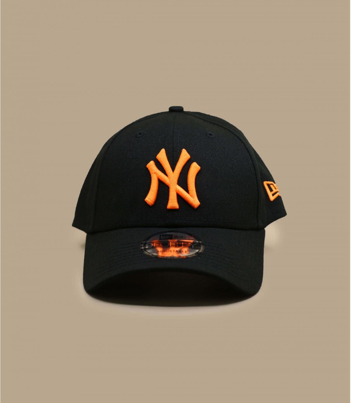 Cap NY schwarz neon orange