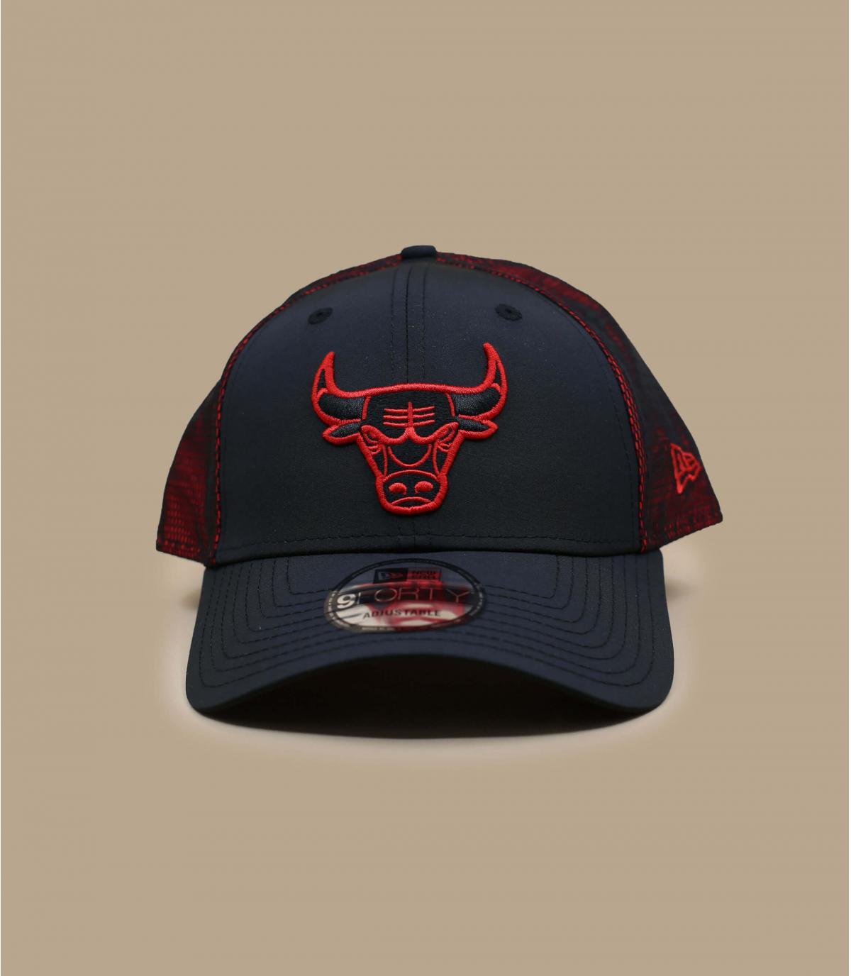 Cap Bulls schwarz rot