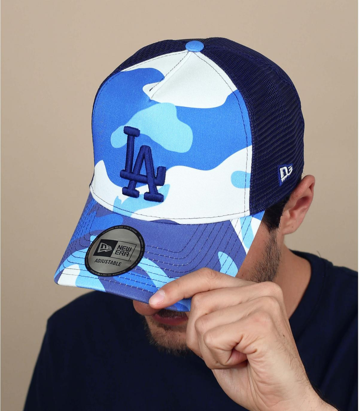Trucker Cap camo blau weiß