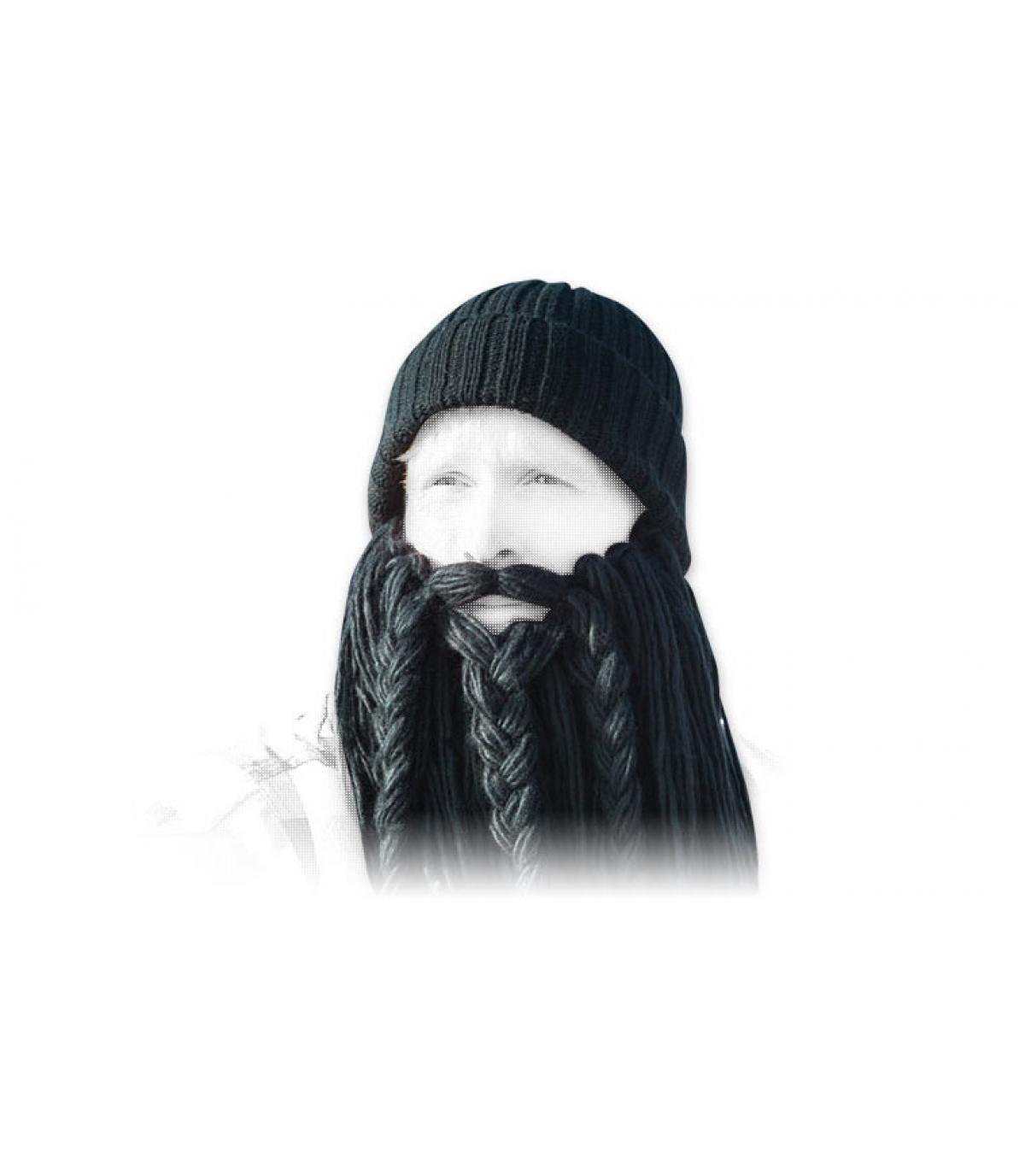 Langer schwarzer Wikinger Bart