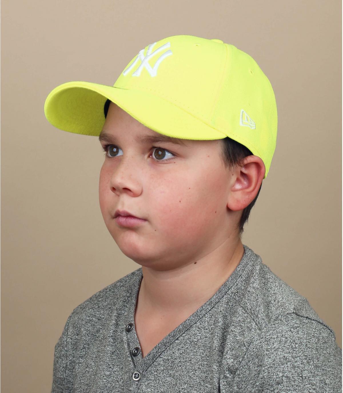 Kinder Cap NY neon gelb