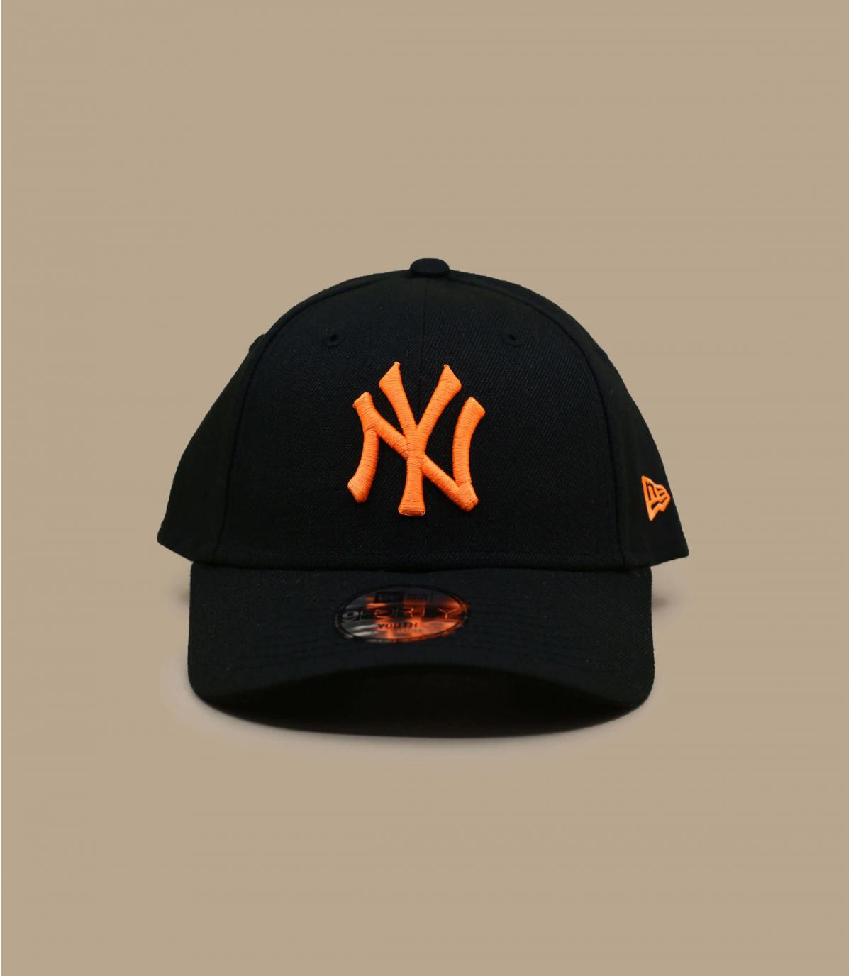 Kinder Cap NY schwarz orange