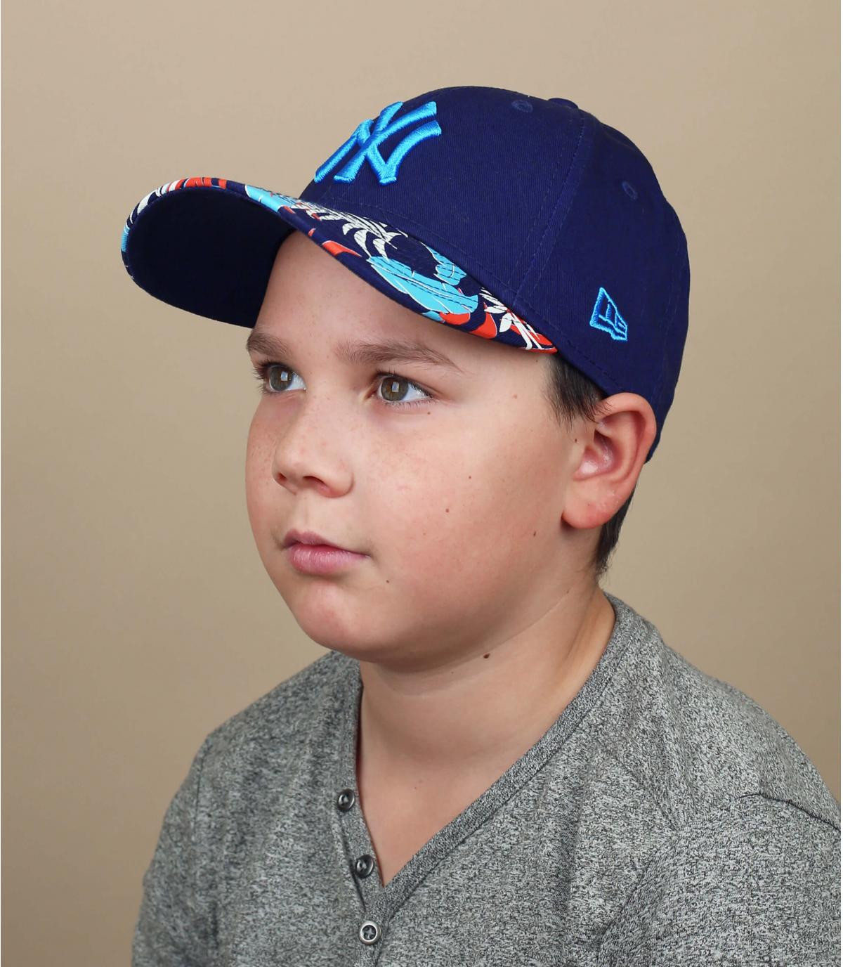 Kinder Cap NY schwarz blau