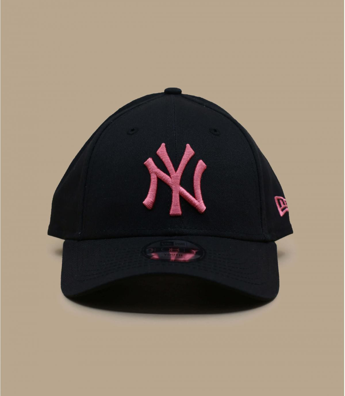 Kinder Cap schwarz rosa