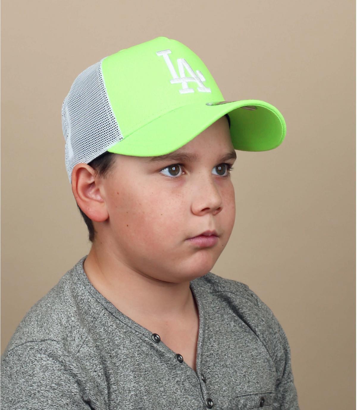 Kinder Trucker Cap LA grün