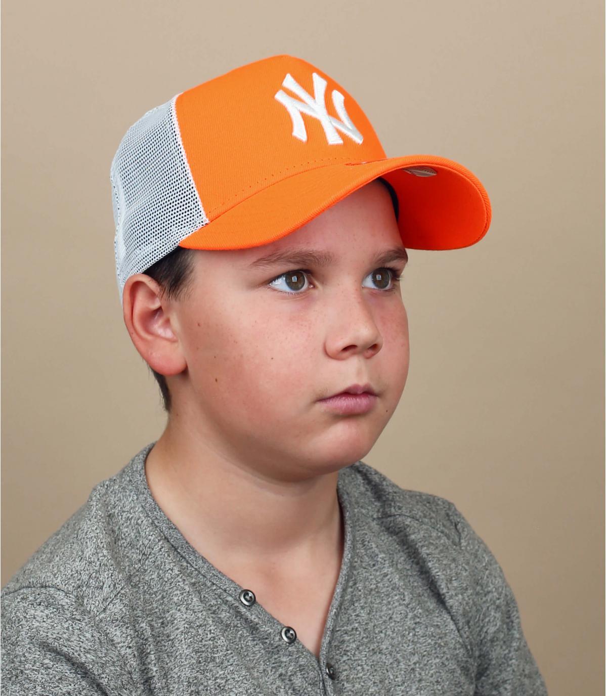 Kinder Trucker Cap NY orange
