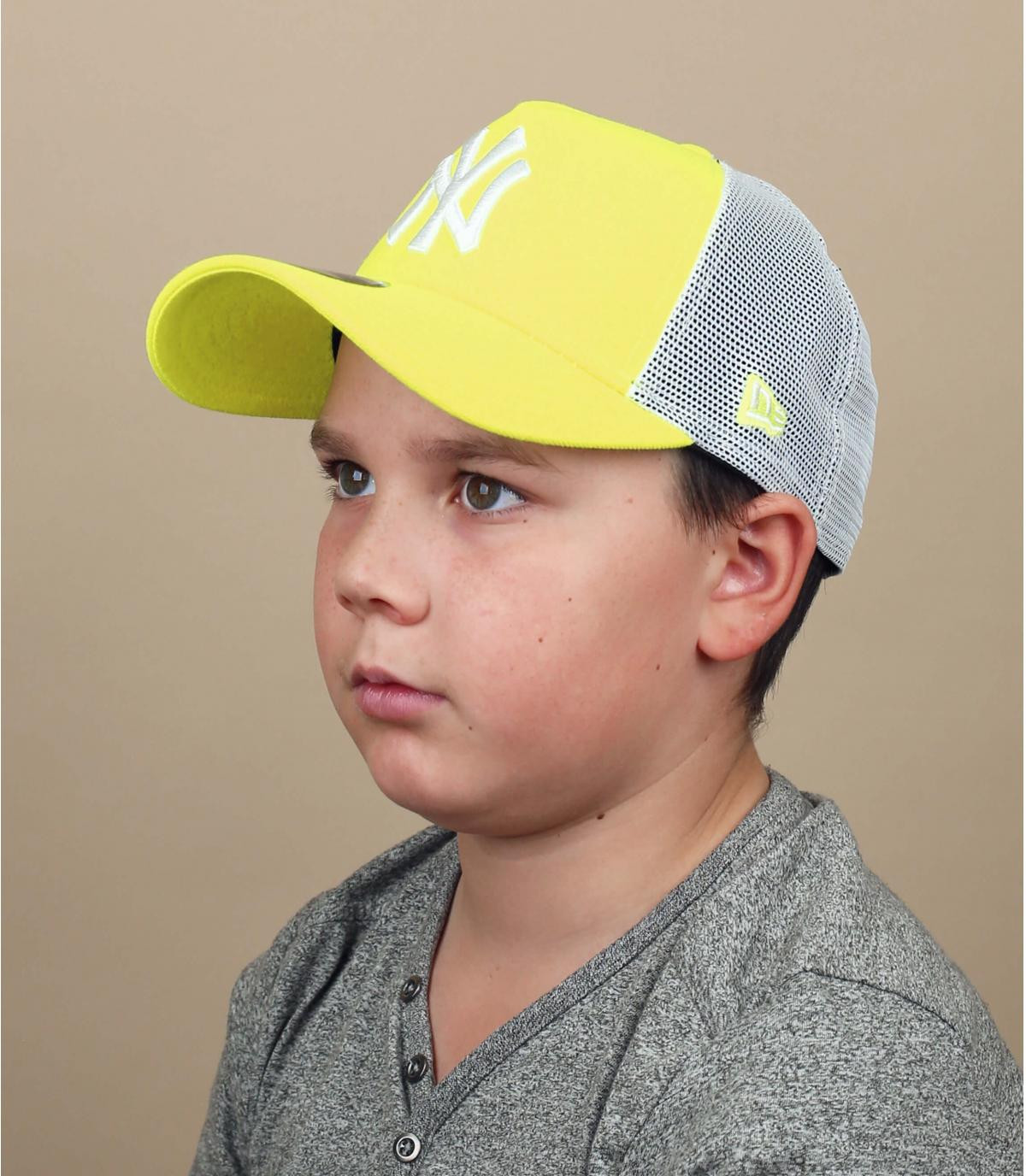 Kinder Trucker Cap NY gelb