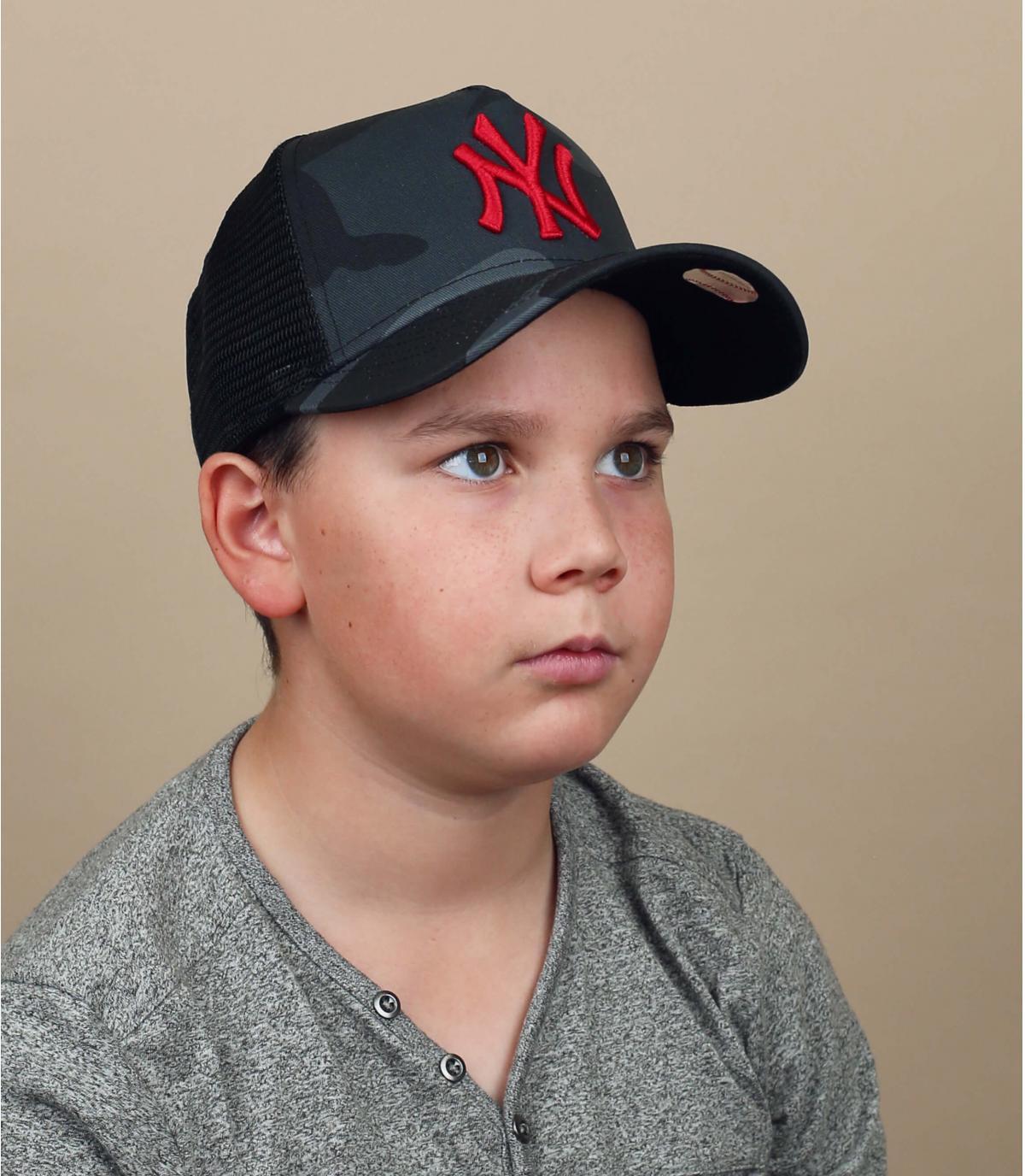 Kinder Trucker Cap NY camo