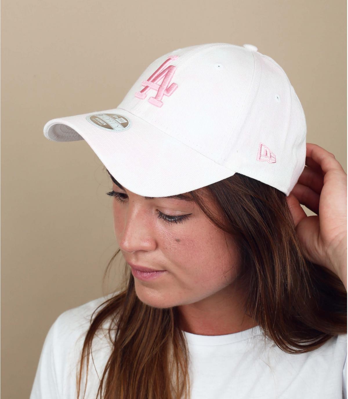 Cap LA weiß rosa