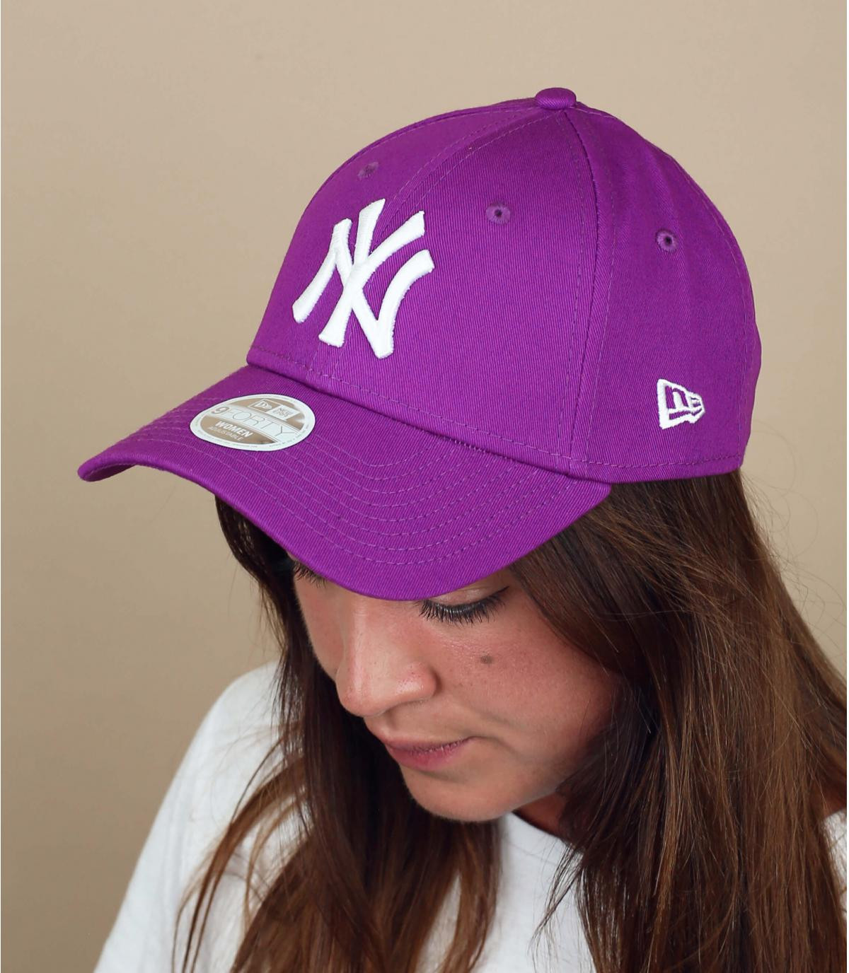 Damen Cap NY  violett