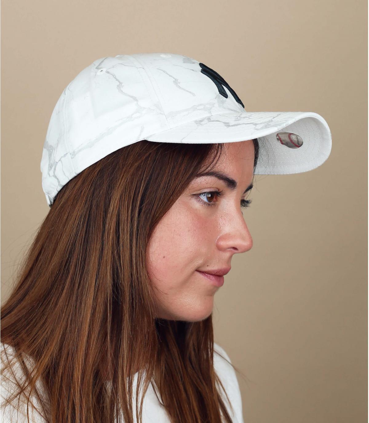 Weiße Damen Cap NY