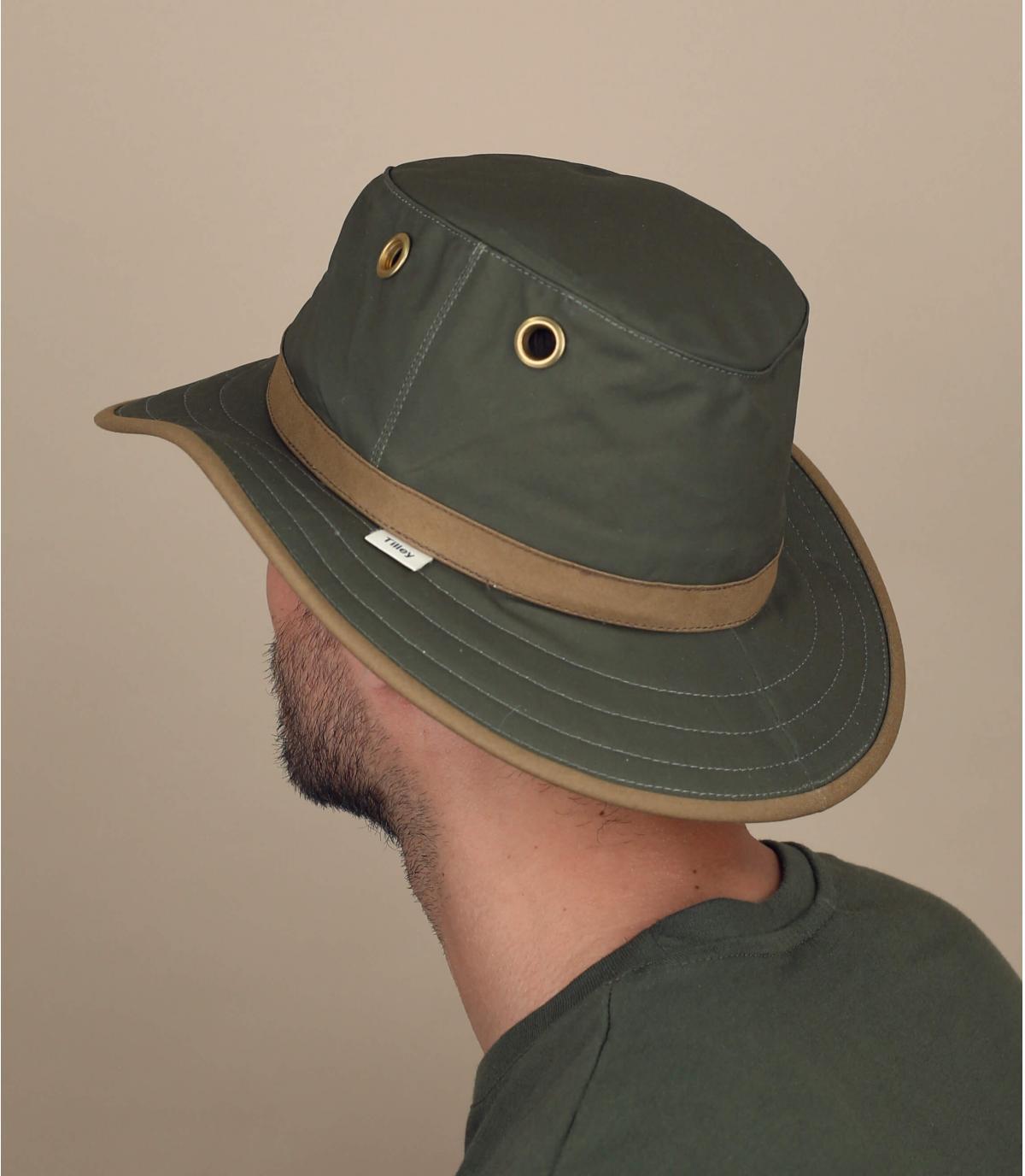 Hut gewachste Baumwolle grün