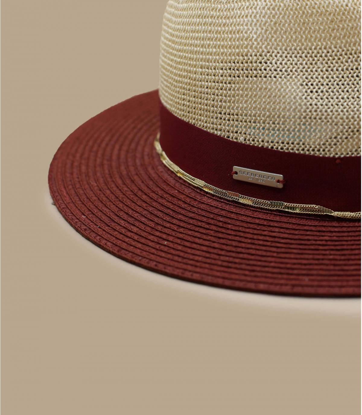 Details Fedora Bi Color  linen cassis - Abbildung 3