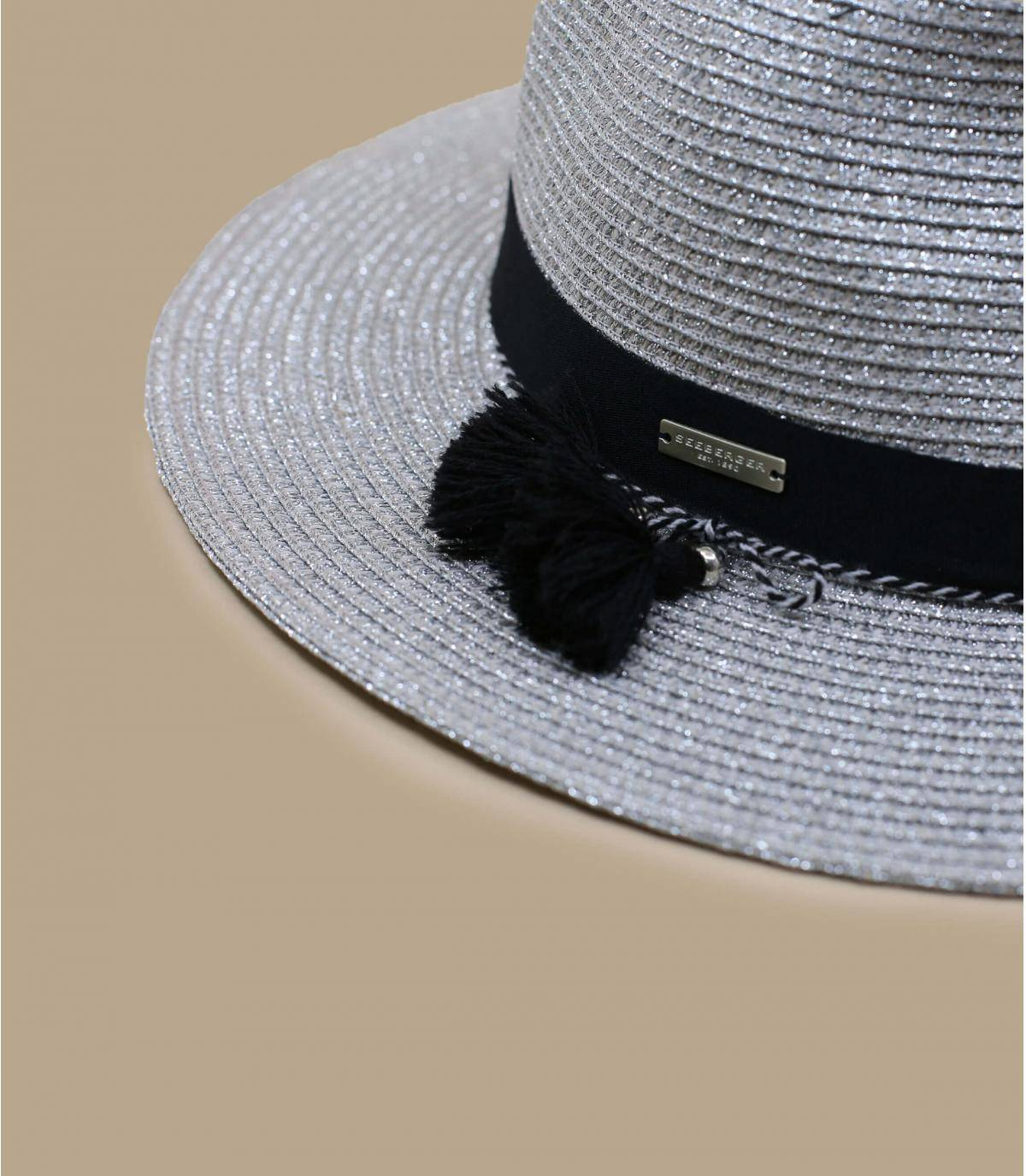 Details Fedora in shiny braid light grey - Abbildung 3