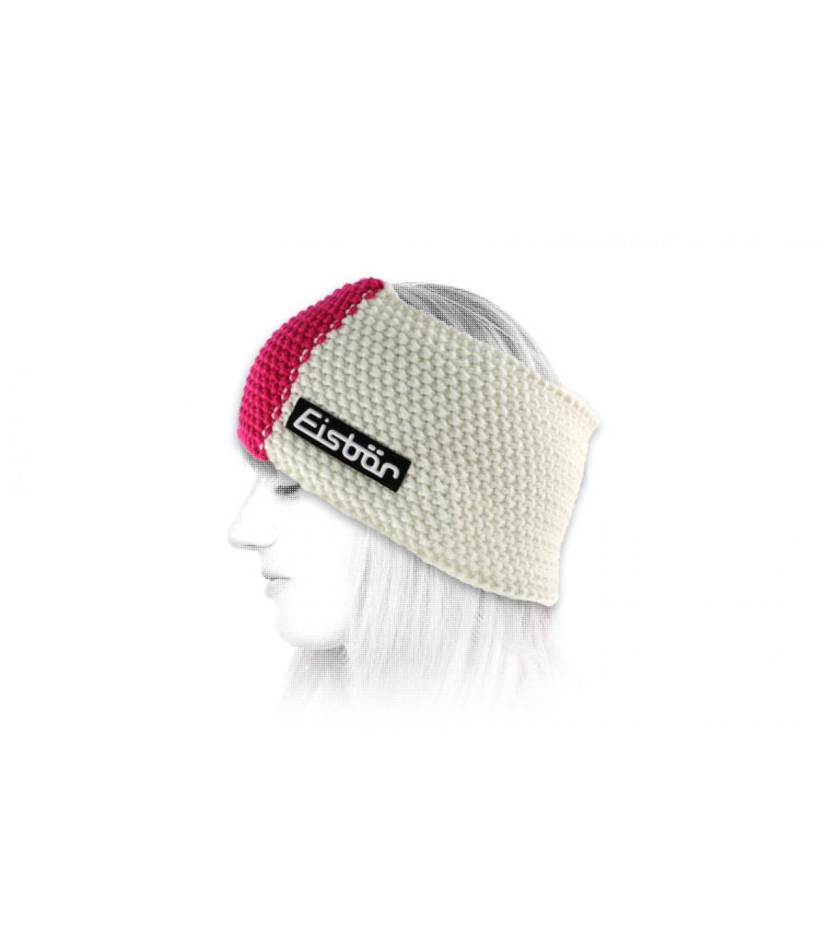 Eisbär rosa Stirnband