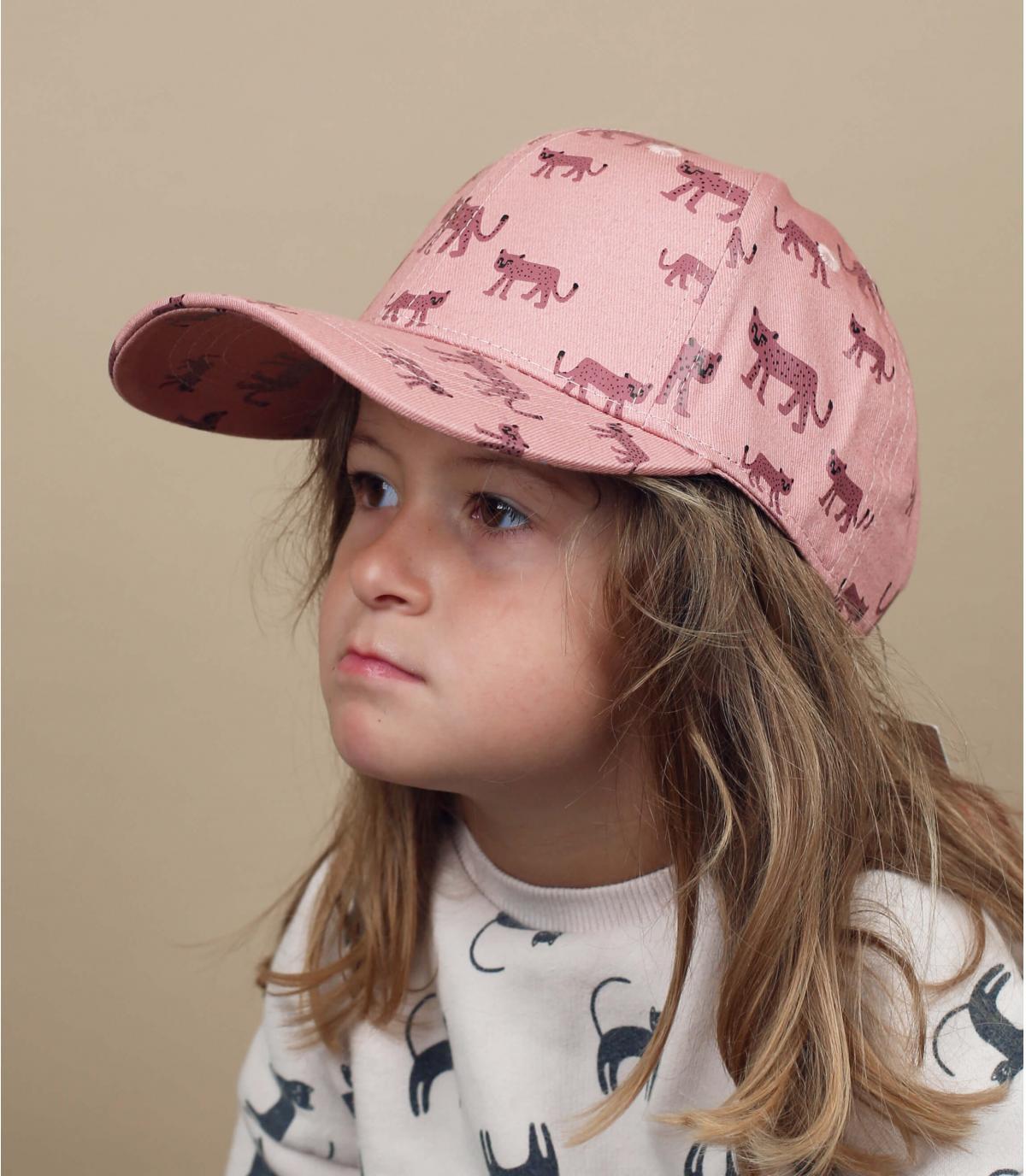 Baby Cap Leopard rosa