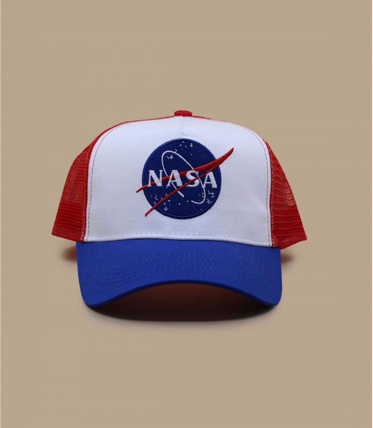 Trucker NASA blau weiß rot