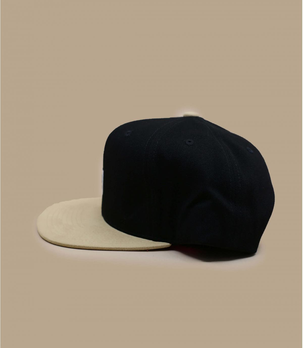 Details Alton Snapback black tan suede - Abbildung 2